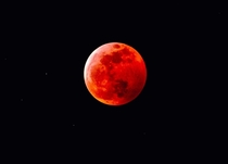The Blood moon captured by my grandfathers telescope