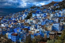 The Blue City of Chefchaouen in Morocco OC