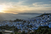 The blue city of Chefchaouen Morocco