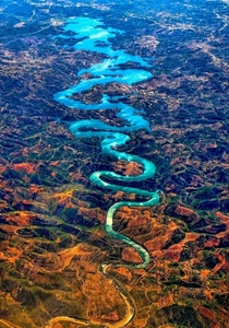 The Blue Dragon an actual river in Portugal x-post from rpics