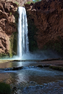 The Blue Green Waters of Mooney Falls AZ
