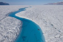 The Blue River Petermann Glacier Greenland