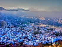 The blue village of Chefchaouen Morroco