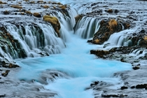 The blue water of Brarfoss  Photo by Andreas Jones xpost from rsland