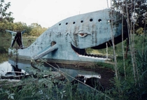 The Blue Whale of Catoosa - Route  attraction in Catoosa Oklahoma - Abandoned - then restored by town locals