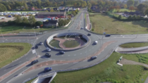 The Bolletjes doule roundabout in the Netherlands