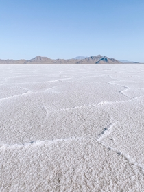 The Bonneville Salt Flats Utah