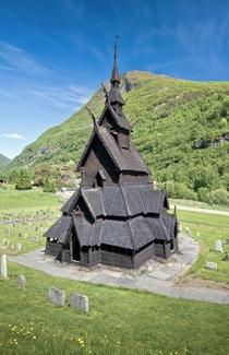 The Borgund Stave Church in Norway built in