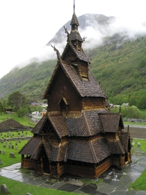The Borgund Stave Church Norway Built sometime between  and  CE