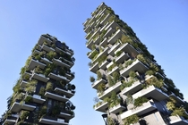 The Bosco Verticale or vertical forest towers in Milan Italy Flavio Lo Scalzo