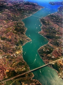The Bosphorus aerial view Istanbul