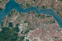The Bosphorus Strait Istanbul photographed by an astronaut aboard the ISS