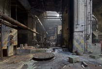 The bowels of an abandoned coal-fired power plant in Philadelphia Pennsylvania