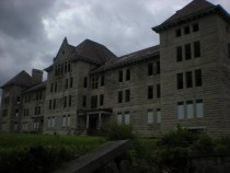The Bowen administrative building of Peoria State Hospital