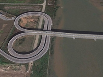 The bridge between China and Macau that cars switch from left to right hand drive