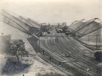 The Bridgeport Coal Storage Facility along the main line of the Philadelphia and Reading Railway Bridgeport PA circa