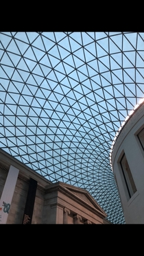 The British Museum in London perspective  x