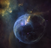 The Bubble Nebula About the Object Name Bubble Nebula NGC  Type Milky Way  Nebula  Appearance  Emission  H II Region Distance  light years Constellation Cassiopeia Category Nebulae