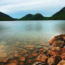 The Bubbles Jordan Pond Acadia National Park Maine