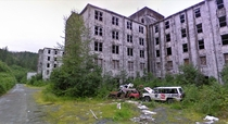 The Buckner Building a massive WWII-era structure in the tiny port town of Whittier Alaska