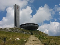 The Buzludzha Monument to Soviet communism in the mountains of Bulgaria abandoned in  link in comments