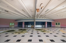 The cafeteria in an abandoned Canadian mental institution OC -