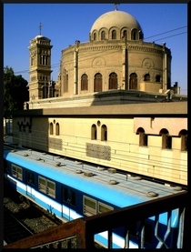 The Cairo subway and a coptic church -