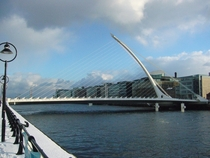 The Calatrava-Bridge in Dublin
