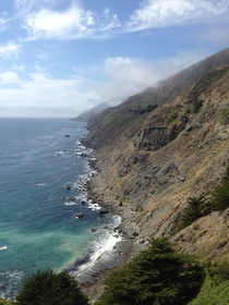 The Californian coast as seen from Highway  Shot with an iPhone