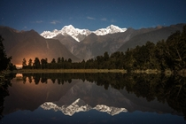 The Calmest of Nights Lake Matheson New Zealand