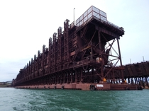 The Canadian National Iron Ore Docks in Two Harbors MN