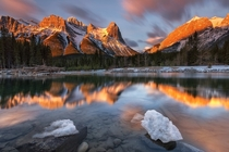The Canadian Rockies near Canmore  photo by Edwin Martinez