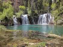 The Canadian Rockies seem to get a lot of love here but theres no shortage of beauty in the Colorado Rockies Hanging Lake Glenwood Canyon CO
