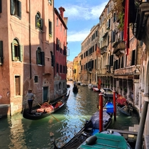 The canals of Venice Italy