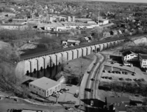 The Canton Viaduct with Paul Reveres Copper Rolling Mill in the background