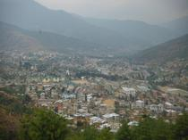 The Capital of Bhutan from Above - Thimphu