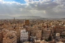 The capital of Yemen Sanaa Inhabited for over  years the old city is known for its geometrically detailed multi-story tower houses of packed earth unique to Yemen and almost all built before the th century