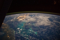 The Caribbean Sea Viewed From the International Space Station
