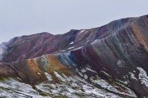The cascading colors of Palccoyo Rainbow Mountain Peru