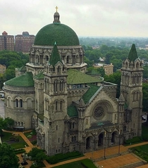 The Cathedral Basilica of Saint Louis - St Louis MO - Completed in  in the Neo-Byzantine Romanesque Revival style by architect Thomas P Barnett The Cathedral Basilica is known for its large mosaic installation which is one of the largest in the Western He