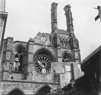 The Cathedral of Soissons after German bombardment during the First World War More in a link in the comments