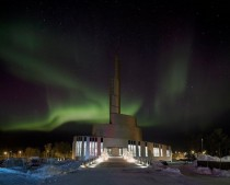 The Cathedral of the Northern Lights Alta Norway xpost from rarcitecture