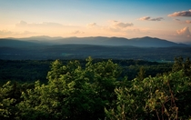 The Catskill Mountains at Sunset