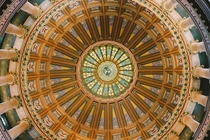 The ceiling of the capital building in Springfield IL