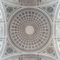 The Ceiling of the Panthon in Paris is pretty darn amazing