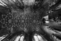 The ceiling of the Thistle Chapel in Saint Giles Cathedral Edinburgh