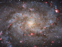 The center of Messier  the triangulum galaxy  million light-years away the third-largest member of our local group of galaxies behind the Milky Way and the Andromeda galaxy It is one of the most distant permanent objects that can be viewed with the naked