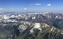 The Central Colorado Rockies from Above