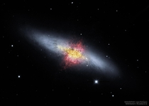 The Central Magnetic Field of the Cigar Galaxy