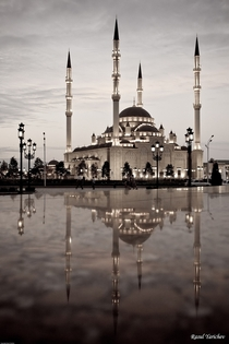 The central mosque in Grozny Chechnya Russia